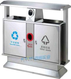 金屬果皮箱煙灰不鏽鋼垃圾桶戶外大堂立式方形帶內桶
