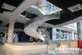 双梁不锈钢旋转楼梯|不锈钢旋转楼梯定制厂家