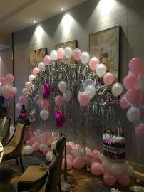 昆明花語花香百日宴氣球布置壽宴氣球寶寶宴氣球生日宴