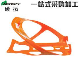 色漆贴标水壶架全碳 自行车配件碳纤维水杯架