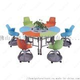 可組合拼合課桌椅 廣東鴻美佳傢俱工廠定製課桌椅