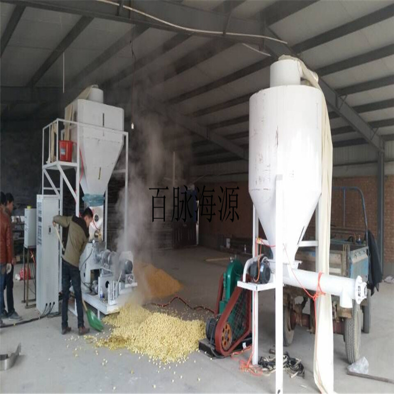膨化玉米 大豆设备  多功能型貂狐饲料膨化机