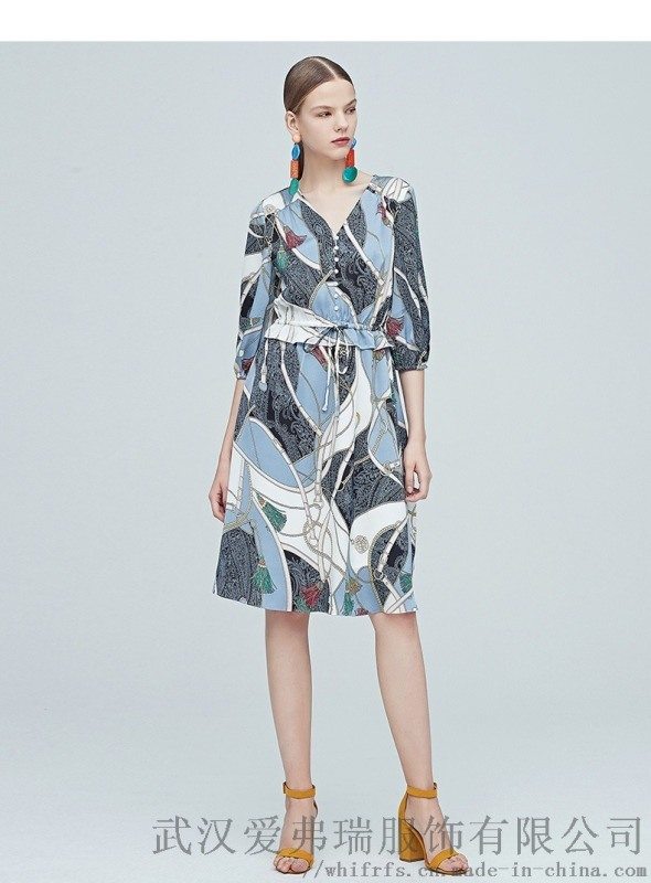 开个小服装店在哪里拿货米拉格五分袖拼接裙子连衣裙