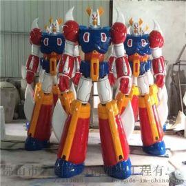 佛山大型机器人雕塑、玻璃钢大黄蜂雕塑模型厂