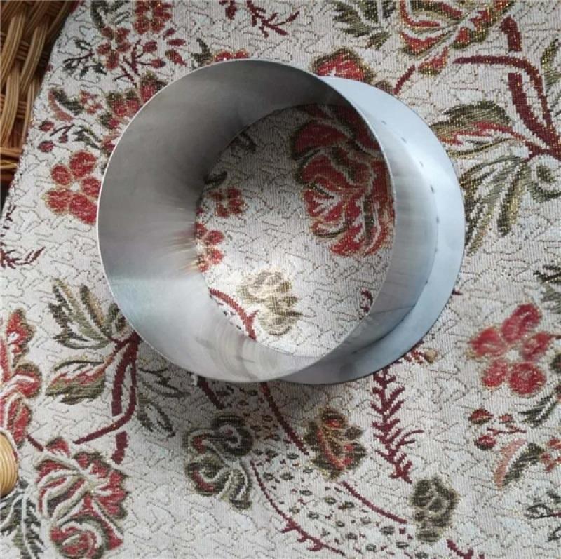 台面隐藏式安装清洁垃圾筒304不锈钢圆形