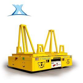 蓄电池无轨电动遥控360°转弯平车运输高压变频器电动无轨道平车