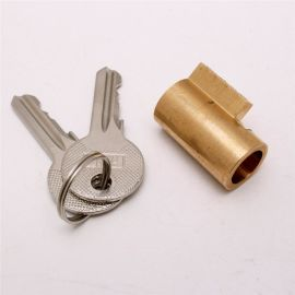 铜锁芯铜镀铬钥匙汽车防盗锁防锈防水锁芯厂家供应LOGO丝印定制