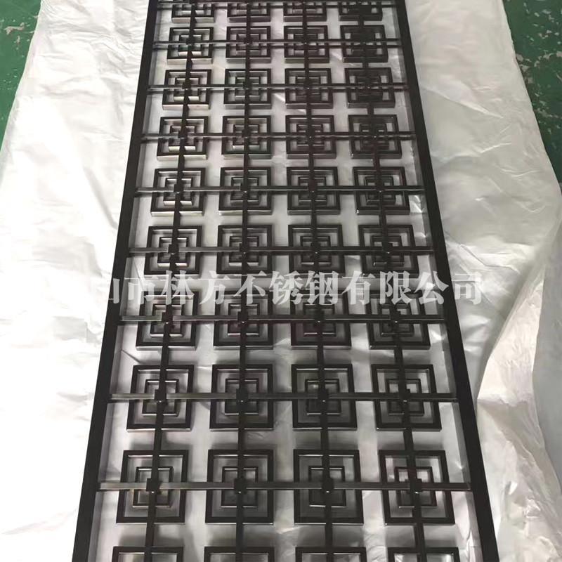 廠家直銷201/304黑鈦不鏽鋼屏風 酒店大堂無指紋黑色屏風