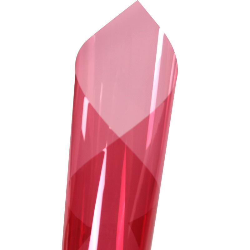 销售玻璃装饰膜桃花红玻璃改色膜防爆膜太阳膜