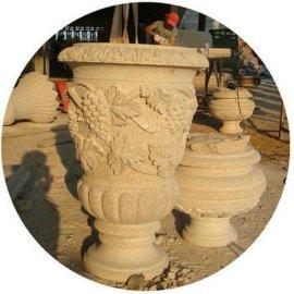 石雕景观花钵生产厂家