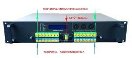OLT 16路PON+CATV EDFA光纖放大合波器,廣電寬帶三網合波器