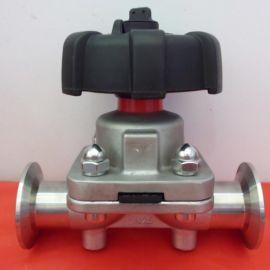 卫生级快装隔膜阀 盖米型DN25 高温150度