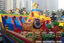 广西崇左广场上小孩子玩的大车充气滑梯蹦蹦床什么价位