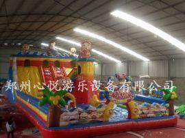 心悦猪猪侠充气大滑梯儿童的乐园游乐场充气城堡