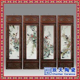 陶瓷瓷板画定做 青花粉彩手绘瓷板画 景德镇厂家供应瓷板画