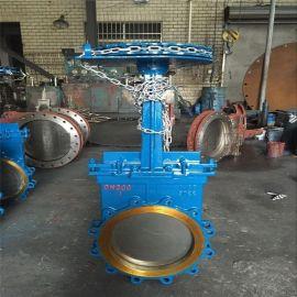 PZL73手動鏈輪刀型閘閥法蘭鑄  閘閥DN200