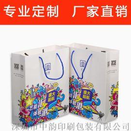 深圳厂家纸袋定做 手提礼品印刷 服装纸袋购物纸袋设计定制