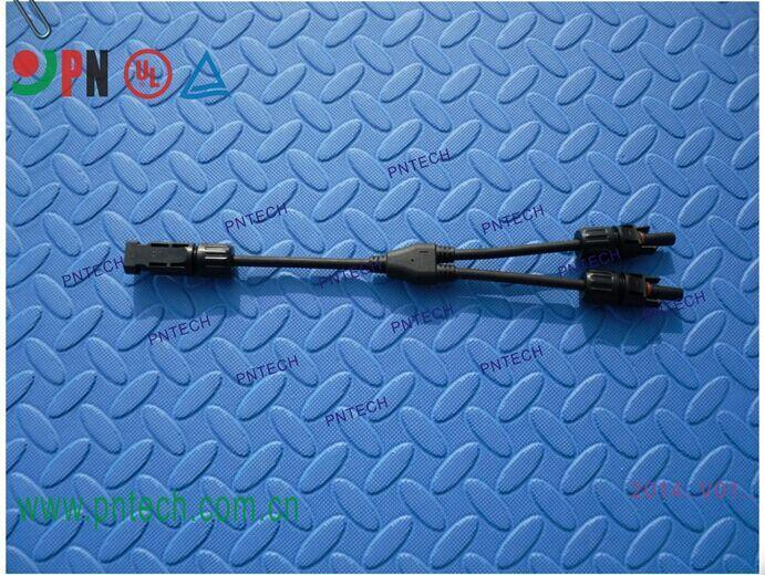 TUV认证 MC4光伏连接器Y型三通 光伏组件三通连接器 MC4光伏连接器