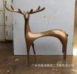 玻璃钢切面鹿子雕塑 玻璃钢组合雕塑 玻璃钢动物定制梅花鹿
