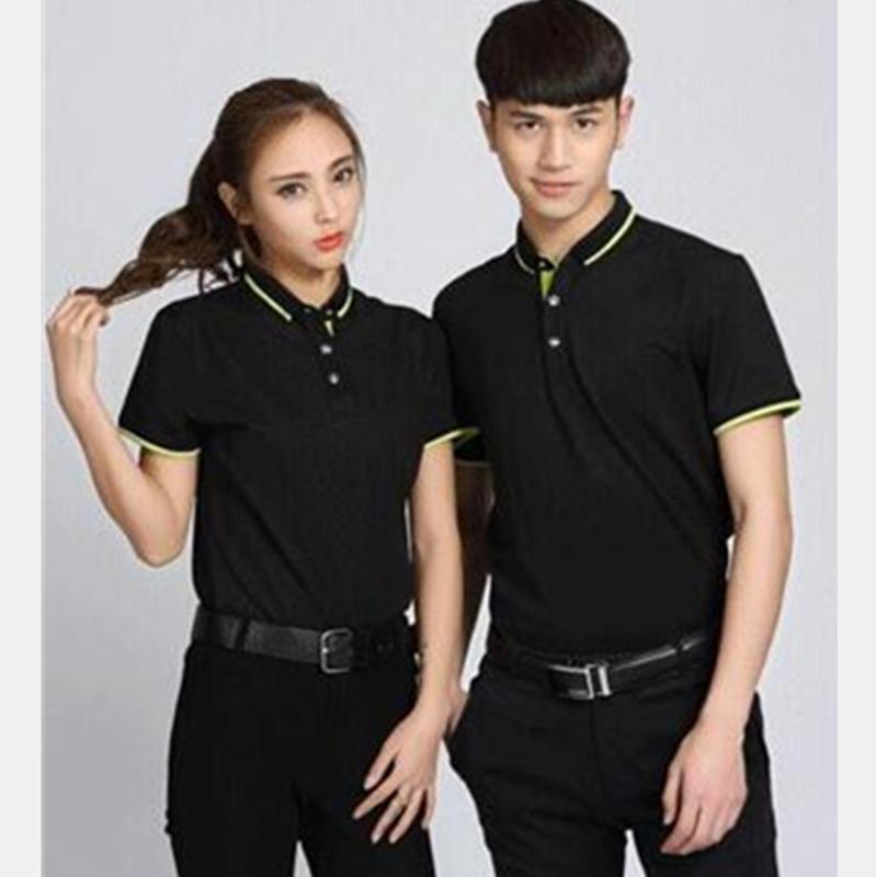 工作服定製T恤印logo短袖工衣服裝diy企業文化廣告Pol