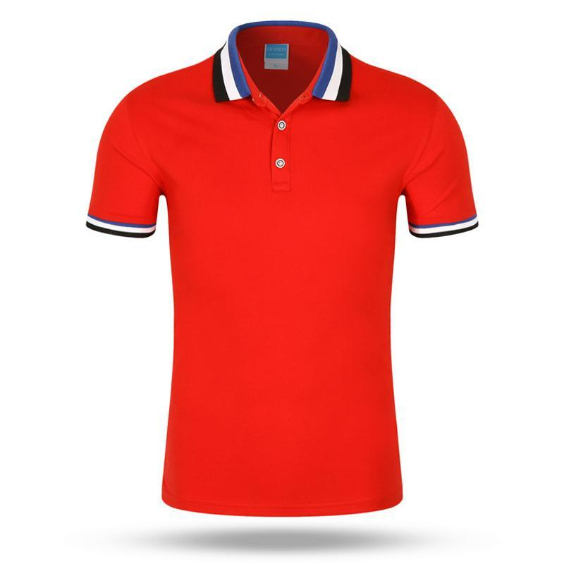 夏季翻领短袖男女polo衫半袖宽松  带领t恤班服工作服定制印字