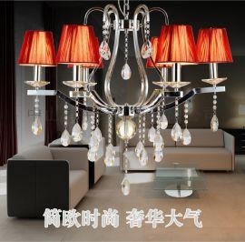 歐式現代鐵藝水晶吊燈客廳餐廳臥室吊燈6605
