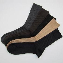 优质羊绒绅士袜  竖纹羊绒男袜