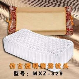 梦乡醉仿古旅游透明软胶颈椎枕头 新材料护颈可机洗单人枕头芯