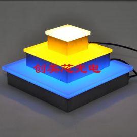LED地砖_LED地砖灯_广场LED发光砖