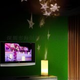 圣诞雪花雪人led蜡烛电池遥控旋转投影灯 HC-015梦幻浪漫创意