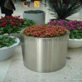 別墅園藝花箱定製不鏽鋼玫瑰金圓形花盆直銷