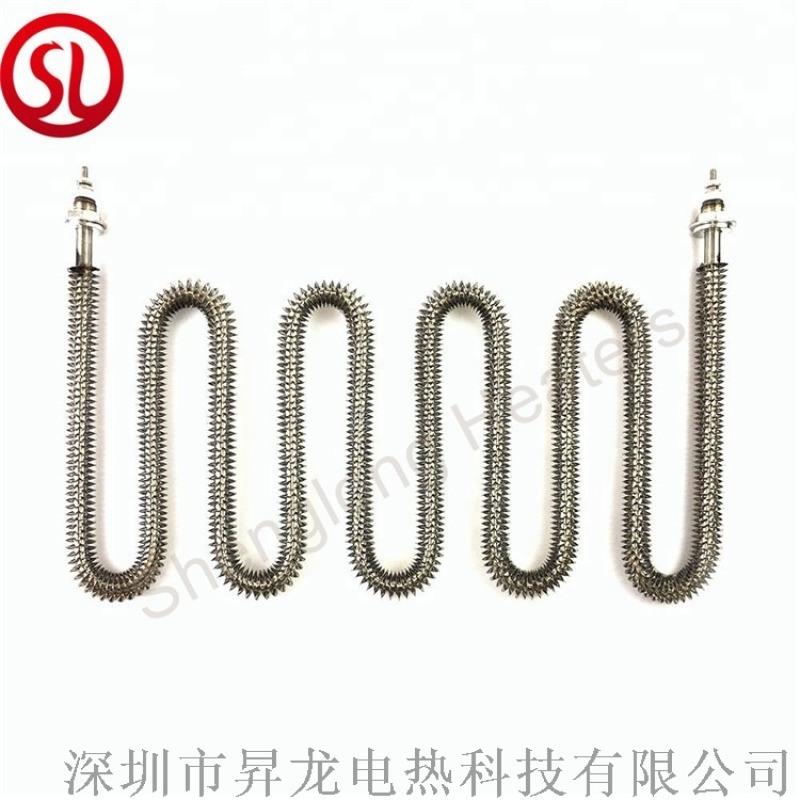 不鏽鋼散熱片電熱管 不鏽鋼翅片加熱管 空氣發熱管