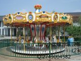 公园儿童游乐设备旋转木马|豪华转马 小蜜蜂游乐又添新作