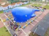 巨型海洋球球池充氣大藍鯨鯨魚島出租