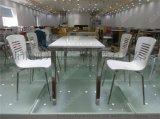 四人位员工餐桌椅,员工餐桌椅广东鸿美佳厂家定制