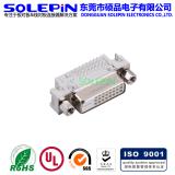 碩品DVI 24+1P 90度帶柱插板式連接器