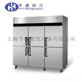 厨房用双门冰柜,不锈钢厨房四门冰箱,上海六门冷冻柜,上冷藏下冷冻冰箱