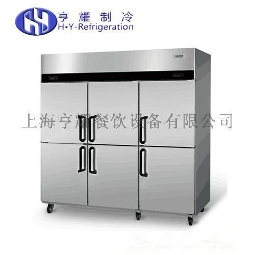 廚房用雙門冰櫃,不鏽鋼廚房四門冰箱,上海六門冷凍櫃,上冷藏下冷凍冰箱