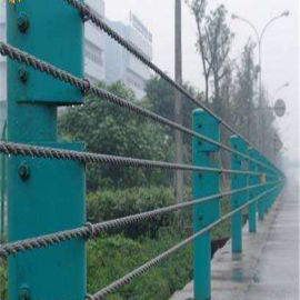 缆索护栏生产厂家@公路防撞护栏@镀锌钢丝绳护栏