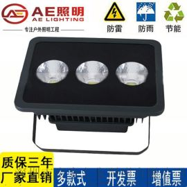 AE照明LED投光灯150W200W300瓦篮球场灯泛光灯工地照明路灯投射灯