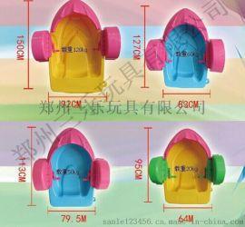 湖南郴州水上遊樂兒童手搖船充氣水池