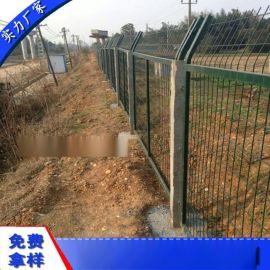 铁路防护栅栏 广州拼接式防护拦网厂家 浸塑围墙防护围栏