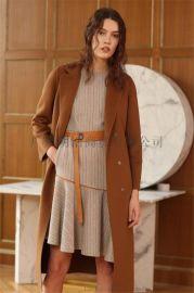 女装品牌折扣  尾货 原创设计师17年新款双面呢 品牌剪标