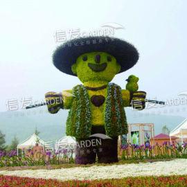 厂家直销立体绿化 绿雕花盆 广场造型卡盆