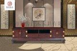 四门二抽电视柜-黑酸枝家具-红木电视柜