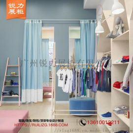 服装店展示架落地式组合架双层层板挂衣架