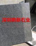 深圳石材厂家-芝麻白挡车球-广场花岗岩石球
