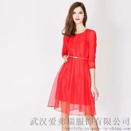 新开服装店如何找货源【现货】红袖秋冬长袖连衣裙