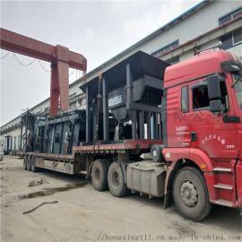 轮胎移动碎石粉碎机 重锤式车载碎石机 制砂机厂家