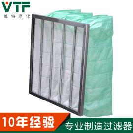 F6中效袋式空气过滤器空调风柜镀锌框空气过滤器